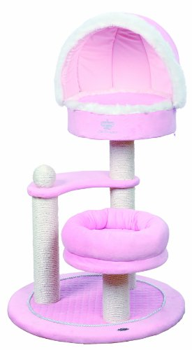 Trixie 45612 Cat Princess Kratzbaum, 105 cm hoch, rosa